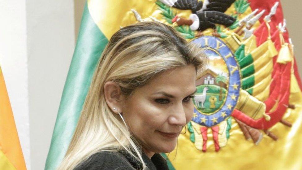 Bolivia's interim President Jeanine Áñez. File photo