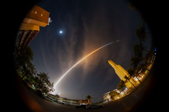 "The joint ESA-JAXA BepiColombo mission to Mercury lifted off from Europe's spaceport in Kourou, French Guiana, on October 20, 2018. <p class=""copyright"">S. Corvaja/ESA</p>"