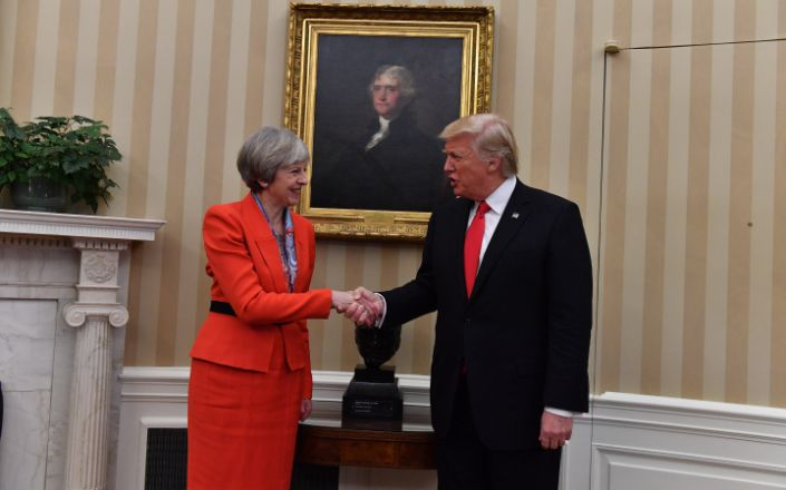 Theresa May meets the President of the United States of America Donald Trump - Andrew Parsons/i-Images