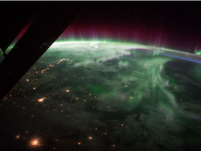 """The aurora borealis over Canada is sighted from the space station, September 15, 2017. <p class=""""copyright""""><a href=""""https://eol.jsc.nasa.gov/SearchPhotos/photo.pl?mission=ISS053&roll=E&frame=23915"""" rel=""""nofollow noopener"""" target=""""_blank"""" data-ylk=""""slk:NASA/JSC"""" class=""""link rapid-noclick-resp"""">NASA/JSC</a></p>"""