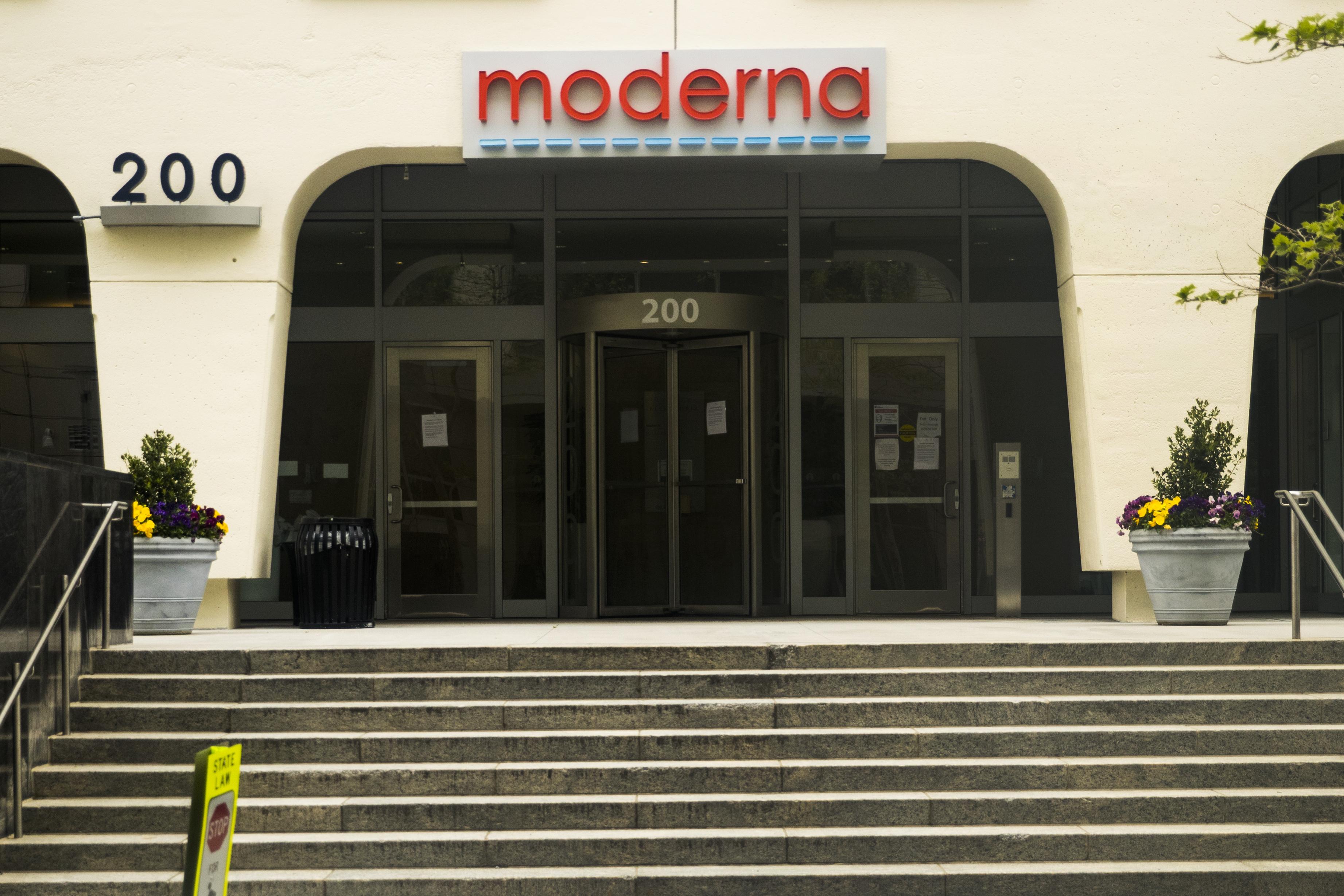 Moderna Inc. headquarters in Cambridge, Massachusetts, on Monday, May 25.