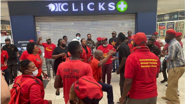 EFF party members have forced several Clicks stores across the country to close