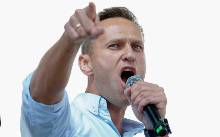 Alexei Navalny was brought out of a medically induced coma last week after his Aug 20 poisoning - Maxim Zmeyev/AFP