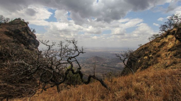 The prisoners are believed to have fled into the Mount Moroto hills