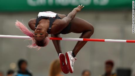 Loomis competes in the women's high jump final at the Pan American Games in August 2019 in Lima, Peru.