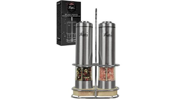 Flafster Kitchen Electric Salt and Pepper Grinder Set