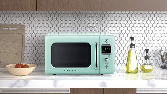 Winiadaewoo Retro Microwave Oven, Mint