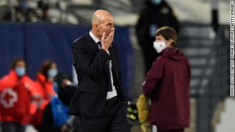 Zinedine Zidane looked on in bemusement as Shakhtar stunned Real Madrid.