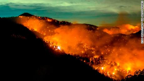 The Bobcat Fire burned through the Angeles National Forest north of Azusa, California, last month.