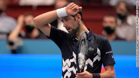 Novak Djokovic had no answer against Lorenzo Sonego.