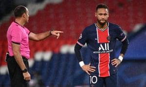Neymar cuts a frustrated figure in Paris