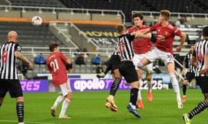 Maguire scores the equaliser from a header