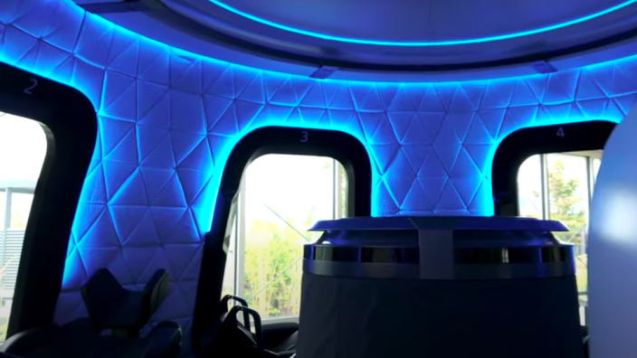 Blue Origin crew capsule interior