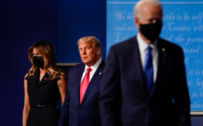 biden Trump - AP