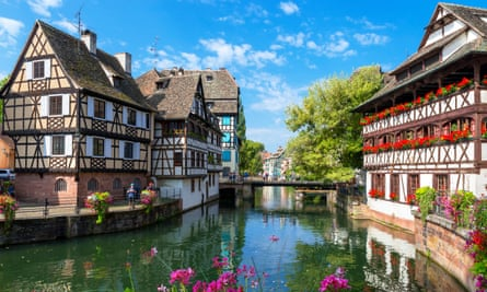The River Ill in the historic Petite France district, Strasbourg, Alsace.