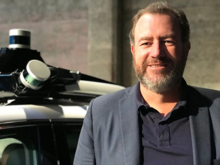General Motors President Dan Ammann, as seen at the company's self-driving car event with Cruise in San Francisco on November 28, 2017.