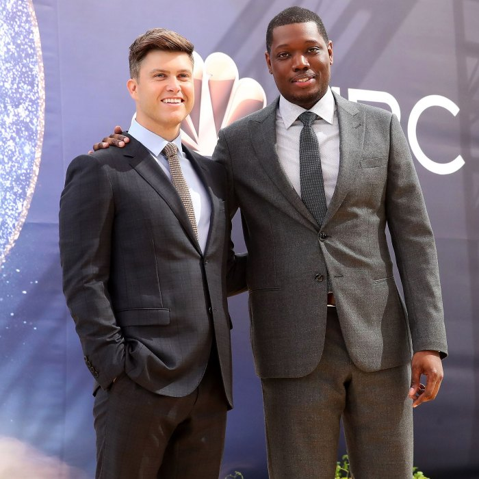 Colin Jost Jokes About Michael Che Objecting at Scarlett Johansson Wedding 3