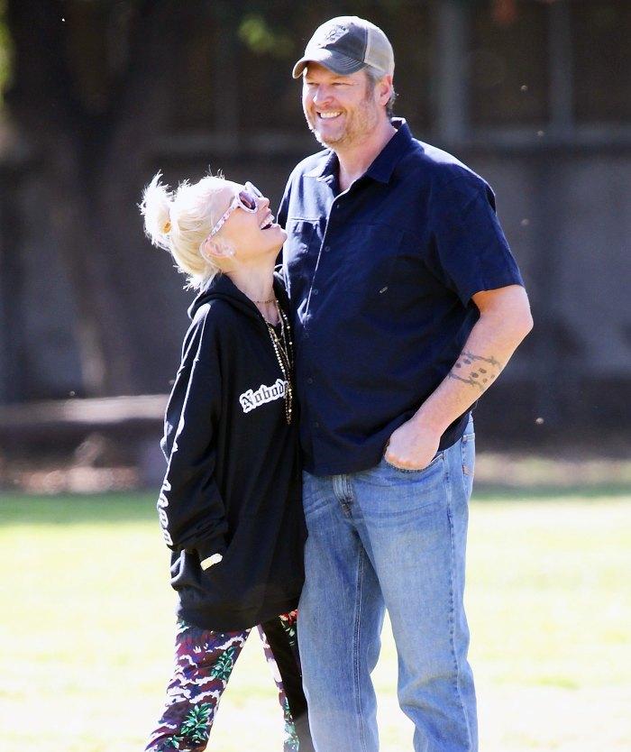 Gwen Stefani and Blake Shelton PDA at Griffith Park Gwen Stefani Talks About People Calling Blake Shelton Her Husband