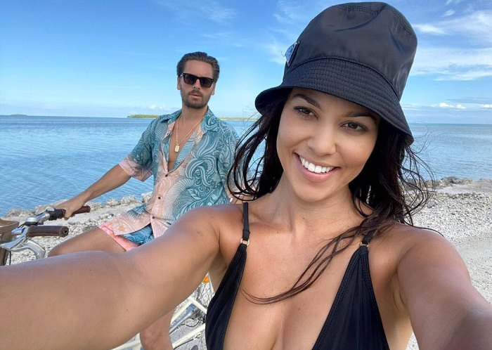 Kourtney Kardashian Poses for Cozy Vacation Pics With Scott Disick