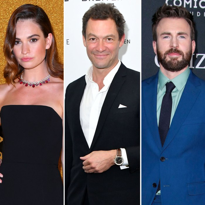 Lily James Spotted Kissing Married Dominic West After Chris Evans Dating Rumors
