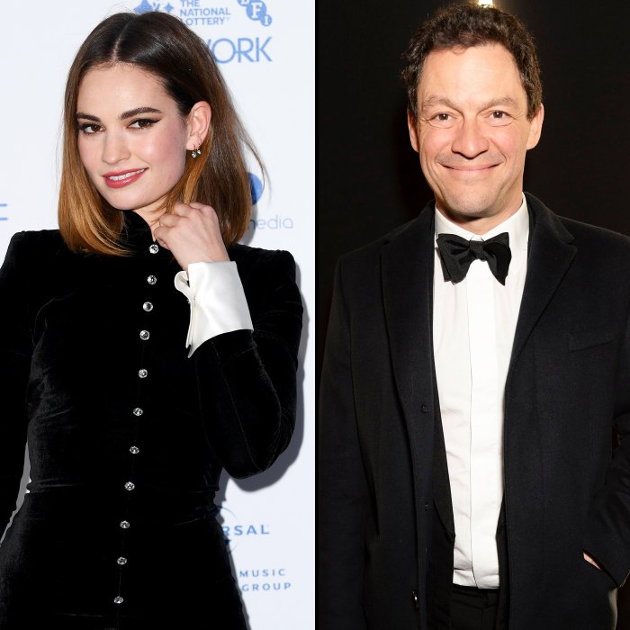 Lily James and Dominic West Were Always Flirtatious on Set