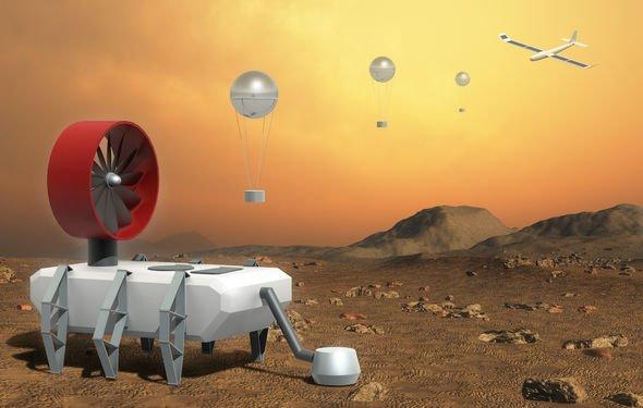 Venus exploration: An artist's impression of a Venus rover