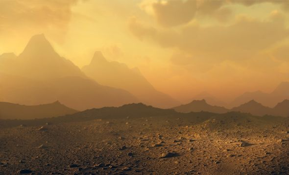 Venus terrain: An artist's impression of what Venus may look like from the ground