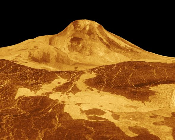 Volcanic: Venus is thought to be covered in mountainous terrain and volcanoes