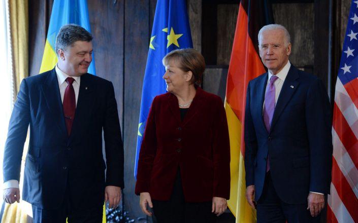 Biden Merkel - ANDREAS GEBERT
