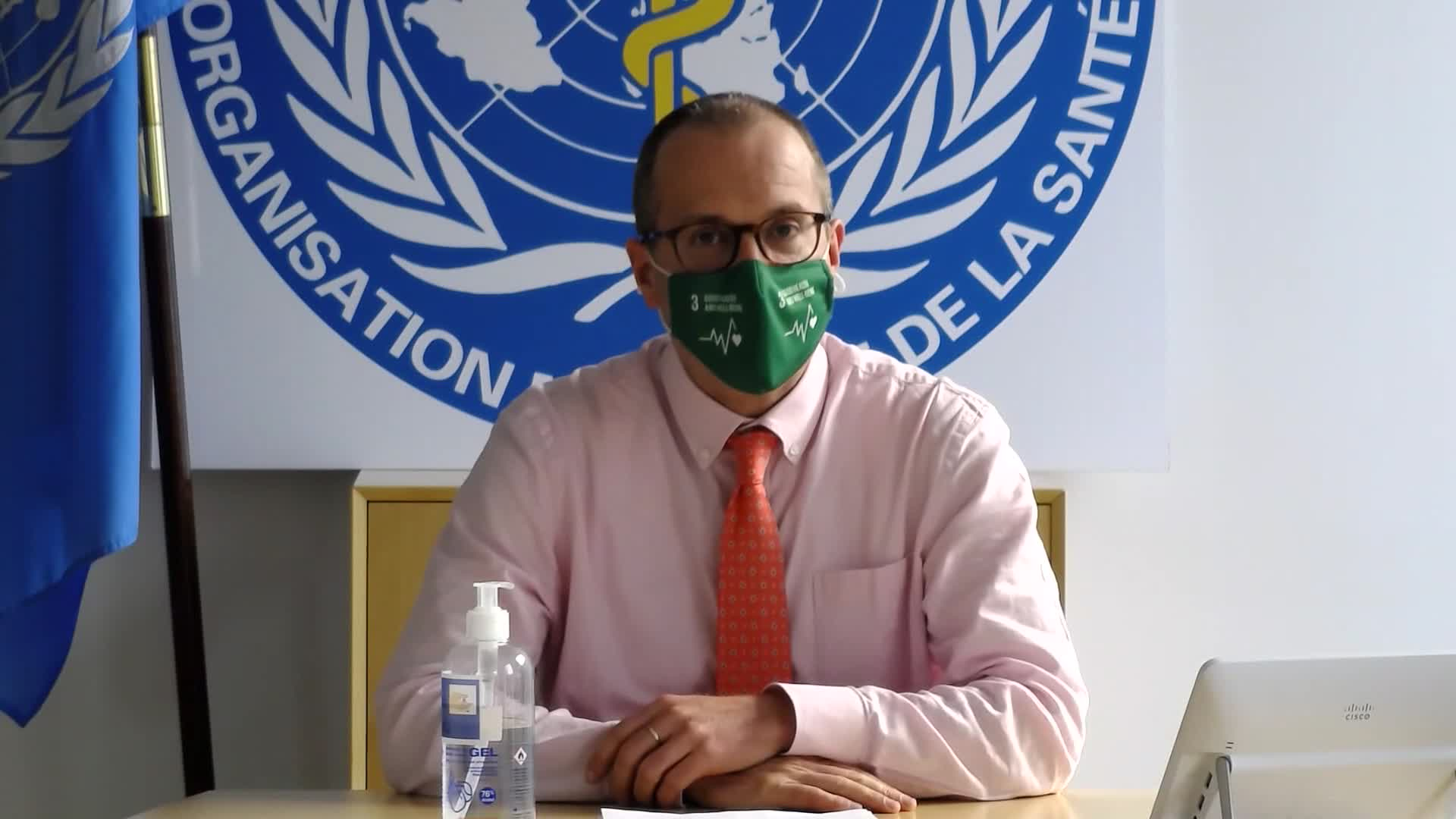 The World Health Organization's Europe Director, Hans Kluge, during an interview with CNN's Becky Anderson on October 16.