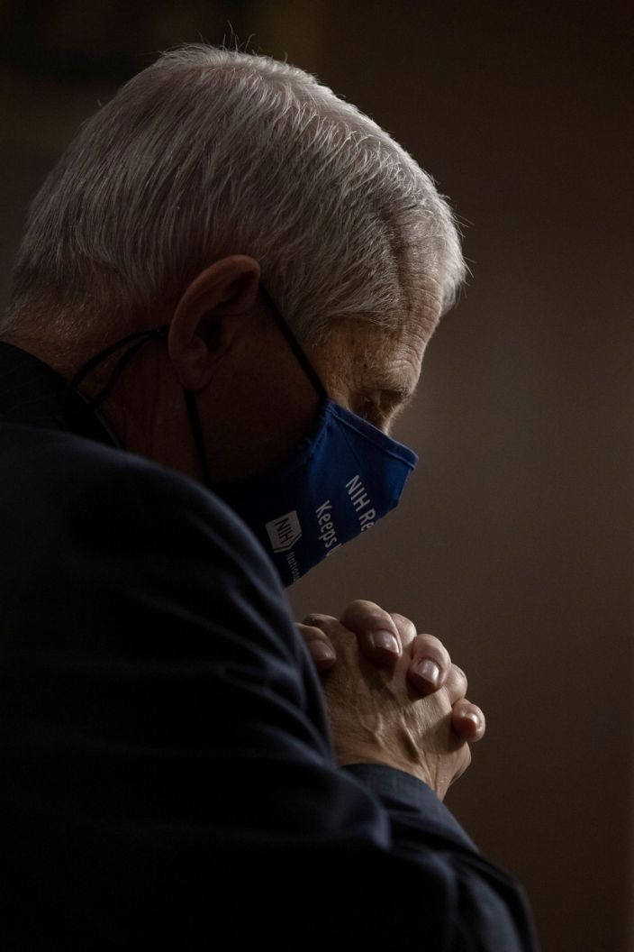 """Dr. Anthony Fauci, Director of the National Institute of Allergy and Infectious Diseases, testifies during a US Senate Senate Health, Education, Labor, and Pensions Committee hearing on September 23, 2020. <p class=""""copyright"""">Graeme Jennings / AFP via Getty Images</p>"""