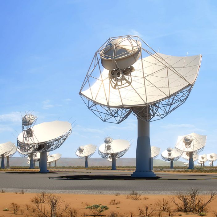 The SKA will consist of thousands of radio receivers. Construction starts next year