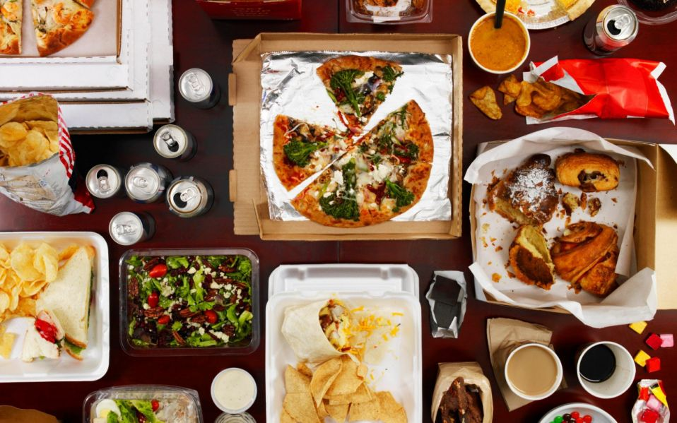 Junk food on a table - Dwight Eschliman/Stone Sub