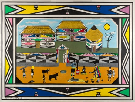 Homestead by Esther Mahlangu