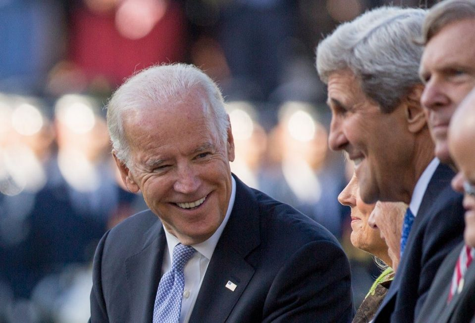 """<span class=""""caption"""">President-elect Joe Biden picked former Secretary of State John Kerry, shown with him in 2015, to be U.S. climate envoy in the next administration.</span> <span class=""""attribution""""><a class=""""link rapid-noclick-resp"""" href=""""https://newsroom.ap.org/detail/USObamaPopeFrancis/2a8661726b064cfb9dbc93dbfdd0f1e8/photo"""" rel=""""nofollow noopener"""" target=""""_blank"""" data-ylk=""""slk:Andrew Harnik"""">Andrew Harnik</a></span>"""