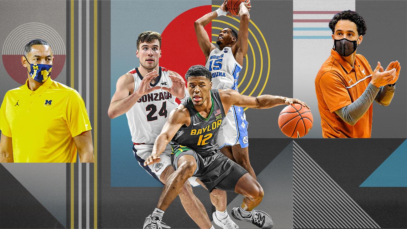 Photo illustration of basketball players